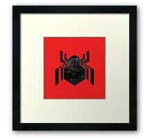 Civil War Spiderman Grunge Framed Print