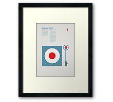 Modernist Turntable Framed Print