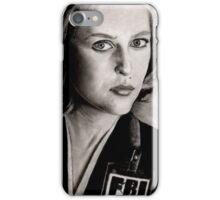 Dana Scully (Charcoal) iPhone Case/Skin