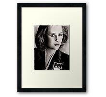 Dana Scully (Charcoal) Framed Print