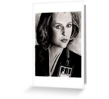 Dana Scully (Charcoal) Greeting Card