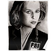 Dana Scully (Charcoal) Poster