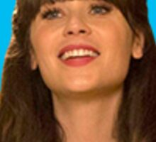 Zooey Deschanel Sticker