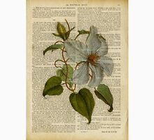 Botanical print, on old book page - flowers- White magnolia Unisex T-Shirt