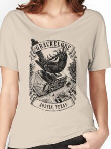 The Grackelope (black and white banners) Women's Relaxed Fit T-Shirt