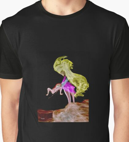 Incense Smoke photograph of woman and flying toad Graphic T-Shirt