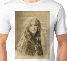 Vintage beauty - print on old book page Unisex T-Shirt