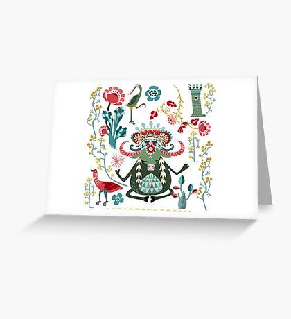 Bull Kharma Greeting Card