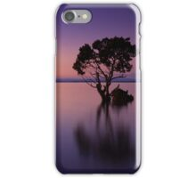 Purple Sunset with Tree  iPhone Case/Skin