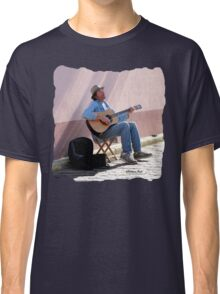 Happy Musician Catching Some Rays Classic T-Shirt