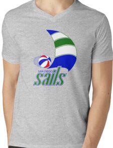 DEFUNCT - SAN DIEGO SAILS Mens V-Neck T-Shirt