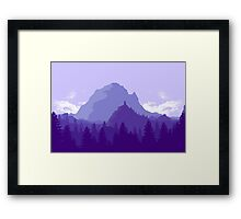 Purple Landscape Framed Print