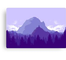 Purple Landscape Canvas Print