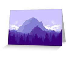 Purple Landscape Greeting Card