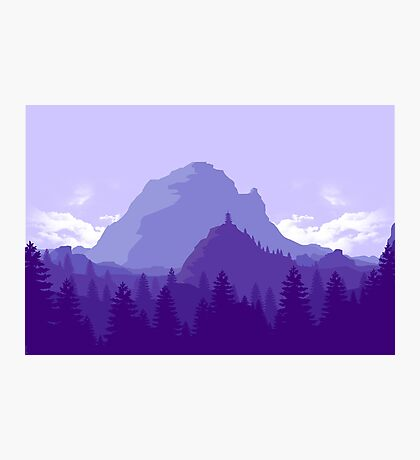 Purple Landscape Photographic Print