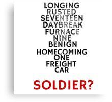 Winter Soldier Activation Code Words - Textured Canvas Print