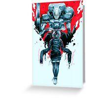 Psycho Gear Greeting Card