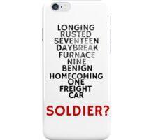 Winter Soldier Activation Code Words - Textured iPhone Case/Skin