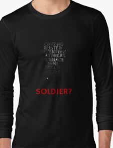 Winter Soldier Activation Code Words - Textured Long Sleeve T-Shirt