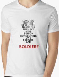 Winter Soldier Activation Code Words - Textured Mens V-Neck T-Shirt