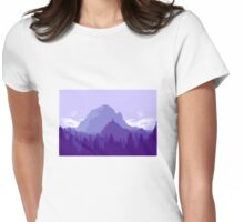 Purple Landscape Womens Fitted T-Shirt