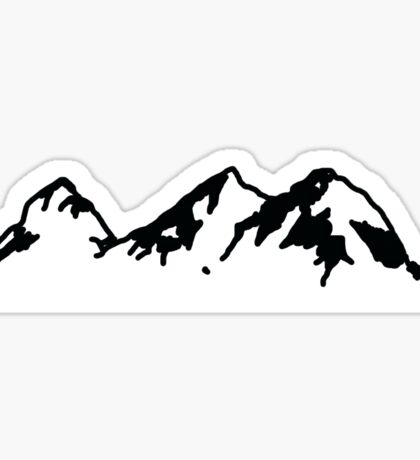 Mountain Range Sticker