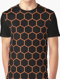 Hexed Orange Graphic T-Shirt