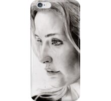 Gillian Anderson charcoal iPhone Case/Skin