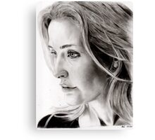 Gillian Anderson charcoal Canvas Print