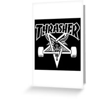 trasher Greeting Card