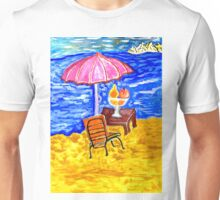 Beach Scene Art Unisex T-Shirt