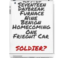 Winter Soldier Activation Code Words - Plain iPad Case/Skin