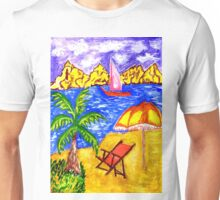 Beach Scene Art 2 Unisex T-Shirt