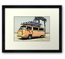 Surf Bus Framed Print