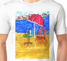 Beach Scene Art 4 Unisex T-Shirt