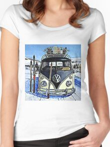 Ski Bus Women's Fitted Scoop T-Shirt