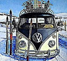 Ski Bus by Sharon Poulton