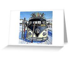 Ski Bus Greeting Card