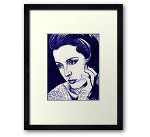 Gillian Anderson ballpoint Framed Print