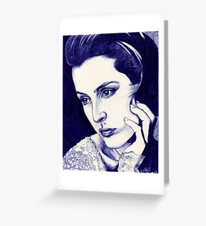 Gillian Anderson ballpoint Greeting Card