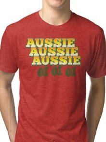 Aussie Aussie Aussie OI OI OI !  Australian chant for Australia day Tri-blend T-Shirt