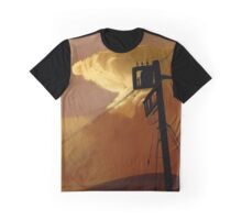 orange sky telephone wires Graphic T-Shirt