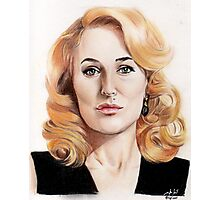 Gillian Anderson color pencil Photographic Print