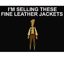 MONKEY ISLAND- Fine leather jackets! Photographic Print