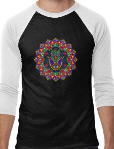 Hamsa Harmony Mandala Men's Baseball ¾ T-Shirt