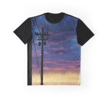 purple sky telephone wires Graphic T-Shirt
