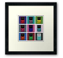 Gameboy Warhol Framed Print