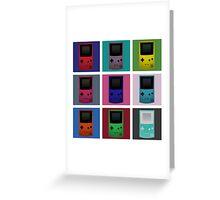 Gameboy Warhol Greeting Card