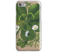 Cloverleaf - acrylic painting iPhone Case/Skin
