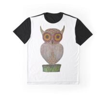 The Solo Sunflower Horned Owl Graphic T-Shirt